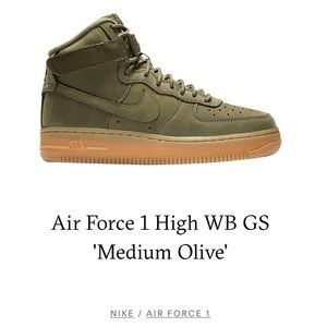 high top olive nike air force ones